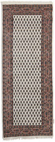 Mir Indo Rug 80X294 Authentic  Oriental Handknotted Hallway Runner  Light Brown/Dark Brown (Wool, India)