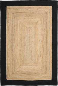 Frida Frame - Natural/Czarny Dywan 200X300 Nowoczesny Tkany Ręcznie Jasnobrązowy/Czarny/Ciemnobeżowy ( Indie)