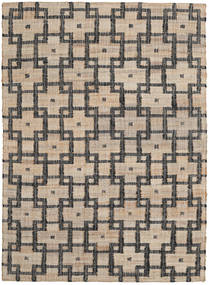 Tudor Rug 160X230 Authentic  Modern Handwoven Light Brown/Dark Grey ( India)