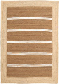 Frida Stripe - Brown Rug 160X230 Authentic  Modern Handwoven Light Brown/Dark Beige ( India)