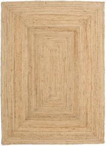 Frida - Natural Tappeto 160X230 Moderno Tessuto A Mano Beige Scuro/Beige ( India)