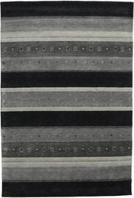 Gabbeh Indo Rug 204X305 Authentic  Modern Handknotted Dark Grey/Black (Wool, India)
