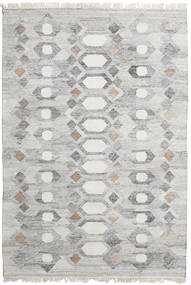 Martha Rug 140X200 Authentic  Modern Handwoven Light Grey ( India)