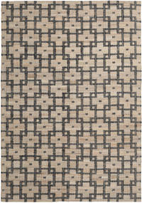 Tudor Rug 200X300 Authentic  Modern Handwoven Light Brown/Dark Grey ( India)