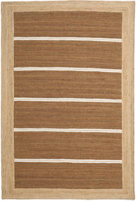 Frida Stripe - Brown Rug 200X300 Authentic  Modern Handwoven Brown/Dark Beige ( India)
