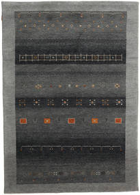 Gabbeh Indo Rug 173X243 Authentic  Modern Handknotted Dark Grey (Wool, India)