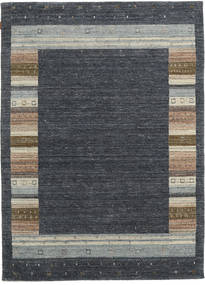 Gabbeh Indo Rug 172X236 Authentic  Modern Handknotted Dark Grey/Light Grey (Wool, India)