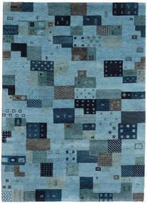 Gabbeh Indisch Teppich  174X240 Echter Moderner Handgeknüpfter Türkisblau/Dunkelblau/Blau (Wolle, Indien)
