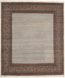 Mir Indo Rug 199X257 Authentic  Oriental Handknotted Light Brown/Dark Grey (Wool, India)