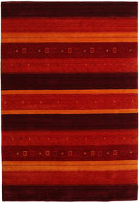 Gabbeh Indo Rug 204X304 Authentic  Modern Handknotted Dark Brown/Rust Red (Wool, India)