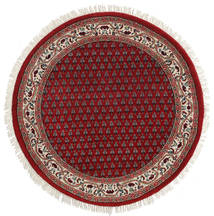 Mir Indisk Teppe Ø 103 Ekte Orientalsk Håndknyttet Rundt Mørk Rød/Rød (Ull, India)