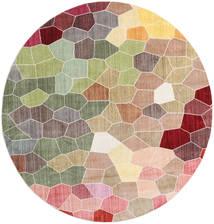 Play Of Colours Szőnyeg Ø 200 Modern Kerek Világosszürke/Világos Rózsaszín ( Törökország)