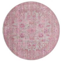 Maharani - Grigio/Rosa Tappeto Ø 200 Moderno Rotondo Rosa Chiaro ( Turchia)