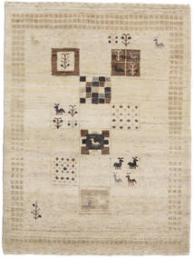 Gabbeh Loribaft Rug 88X118 Authentic  Modern Handknotted Light Brown (Wool, India)