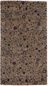 Gabbeh Loribaft Matto 86X157 Moderni Käsinsolmittu Tummanruskea/Ruskea (Villa, Intia)