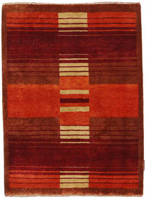 Gabbeh Loribaft Rug 90X123 Authentic  Modern Handknotted Dark Red/Rust Red (Wool, India)