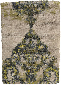 Handknotted Berber Rug 199X285 Authentic  Modern Handknotted Light Brown/Black (Wool, India)