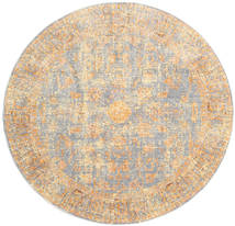 Maharani - Grey/Yellow Rug Ø 200 Modern Round Light Grey/Beige ( Turkey)