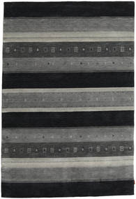 Gabbeh Indo Rug 205X304 Authentic  Modern Handknotted Dark Grey/Black (Wool, India)