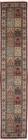 バクティアリ インド 絨毯 79X410 オリエンタル 手織り 廊下 カーペット 薄茶色/濃い茶色 (ウール, インド)