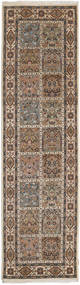 Bakhtiari Indo Rug 78X285 Authentic Oriental Handknotted Hallway Runner Light Brown/Brown (Wool, India)