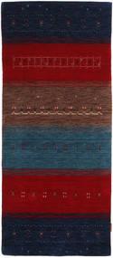 Gabbeh Indo Matto 81X190 Moderni Käsinsolmittu Käytävämatto Tummanpunainen/Tummanvioletti (Villa, Intia)