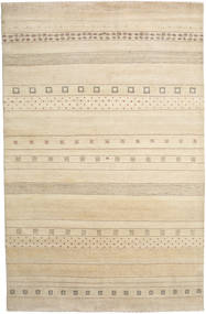 Gabbeh Loribaft Rug 201X310 Authentic  Modern Handknotted Light Brown/Beige (Wool, India)