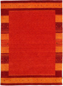 Gabbeh Indo Rug 171X239 Authentic  Modern Handknotted Crimson Red/Orange (Wool, India)