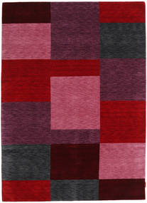 Gabbeh Indo Rug 175X241 Authentic  Modern Handknotted Dark Red (Wool, India)