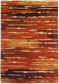 Gabbeh Indisk Teppe 169X242 Ekte Moderne Håndknyttet Rust/Mørk Rød (Ull, India)