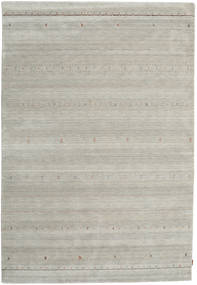 Gabbeh Indo Rug 205X301 Authentic  Modern Handknotted Light Grey (Wool, India)
