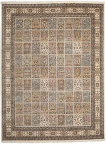 Bakhtiar Indo Matto 299X395 Itämainen Käsinsolmittu Vaaleanruskea/Tummanruskea Isot (Villa, Intia)