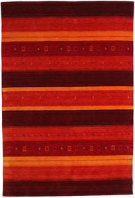 Gabbeh Indo Rug 205X304 Authentic  Modern Handknotted Dark Red/Rust Red (Wool, India)