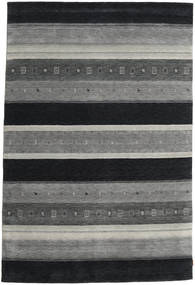 Gabbeh Indo Rug 203X303 Authentic  Modern Handknotted Dark Grey/Light Grey (Wool, India)