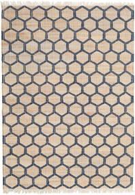 Jute Teppich 160X230 Echter Moderner Handgewebter Hellbraun/Beige ( Indien)