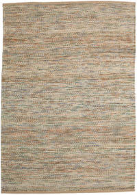 Jute/Wool Rug 160X230 Authentic  Modern Handwoven Light Brown/Light Grey ( India)