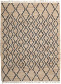 Jute Teppe 160X230 Ekte Moderne Håndvevd Lysbrun/Mørk Grå ( India)