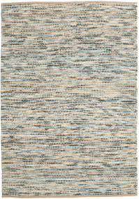 Jute/Wool Rug 160X230 Authentic  Modern Handwoven Light Grey/Light Brown ( India)
