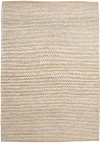 Jute/Wool Rug 160X230 Authentic  Modern Handwoven Light Brown/Beige ( India)