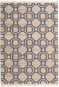 Jute 絨毯 160X230 モダン 手織り 薄茶色/濃いグレー ( インド)
