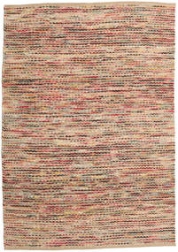 Jute/Wool Rug 160X230 Authentic  Modern Handwoven Light Brown/Brown ( India)
