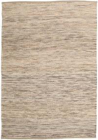 Jute/Uld Tæppe 160X230 Ægte Moderne Håndvævet Lysebrun/Lysegrå ( Indien)