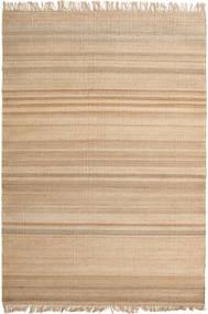 Jute Teppe 170X240 Ekte Moderne Håndvevd Lysbrun/Mørk Beige ( India)