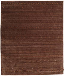 Gabbeh Indo Rug 255X301 Authentic  Modern Handknotted Dark Brown/Dark Red Large (Wool, India)