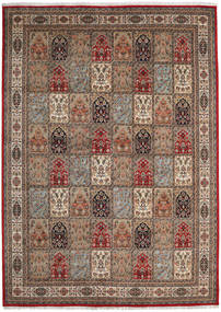 Bakhtiari Indo Rug 252X349 Authentic  Oriental Handknotted Light Brown/Dark Grey Large (Wool, India)