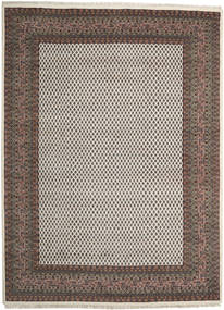 Mir Indo Rug 253X353 Authentic  Oriental Handknotted Light Brown/Dark Grey Large (Wool, India)