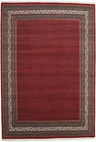 Mir Indo Matto 248X351 Itämainen Käsinsolmittu Tummanpunainen/Tummanharmaa (Villa, Intia)
