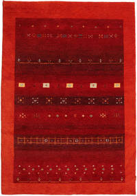 Gabbeh Indo Matto 169X242 Moderni Käsinsolmittu Tummanpunainen/Ruoste (Villa, Intia)