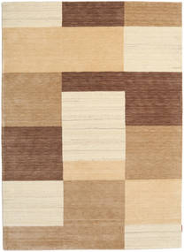 Gabbeh Indo Rug 172X238 Authentic  Modern Handknotted Light Brown/Dark Beige/Beige (Wool, India)