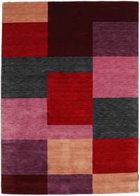 Gabbeh Indisk Teppe 172X242 Ekte Moderne Håndknyttet Mørk Rød/Rød (Ull, India)